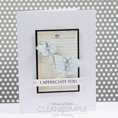 clean and simple by julie ebersole  onlinecardclasses.com