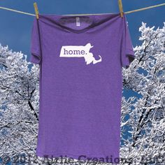 Massachusetts Home State Tee Shirt T-Shirt - Sizes S MD LG and XL