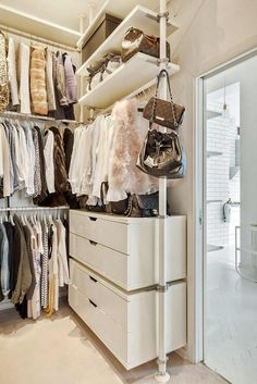 Having a closet is a great way to keep your clothes tidy and organized. You can choose either walk in closet or reach in closet for your type of closet style.  From those both types of closet, which one do you prefer?