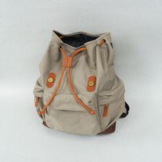 Taro Khaki! IDR 210.000,- #tuskbag #bestseller #bag #vintage #taro #khaki #polyester #leather | CS Center 7D1041AA |