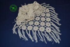 Fringed shawl. White crochet shawl. Wool shawl. Merino shawl. Wrap shawl. Women's lacy shawl. Soft shawl. Handmade shawl. Triangle shawl. - pinned by pin4etsy.com