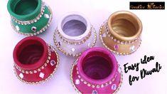 Kalash Decoration, Diya Decoration Ideas, Diwali Decoration Items, Diwali Decorations At Home, Christmas Decorations, Coconut Decoration, Home Decoration, Room Decorations, Wedding Decorations
