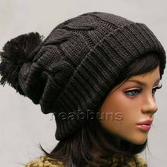 chic pom pom BEANIE Ski snowboard Men Women Knit top best Hats Crochet Cap LSK #neabbuns #Beanie