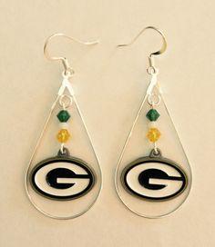 Green Bay Packer Earrings By Dazzlingdesignstracy On Etsy