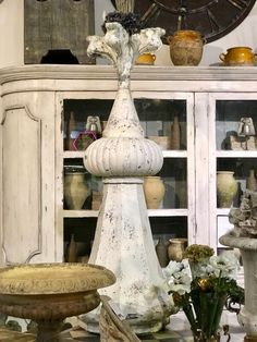 """Zinc Architectural Finial Speer 64"""" High x 25"""" Diameter Was $1595 Sale Price $798 The Hare Wares Antiques & Design Interior Design and antiques are my passion! Anything.....Swedish, French, English and Italian I love! Find the goods at Lost…again Antiques & Decor 148 Riveredge Dallas, TX 75207 Dealer #2368"""
