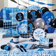 Lil Rebel 1st Birthday Party Supplies - Just use the lil' rebel plates, invites (maybe), some balloons, cups...
