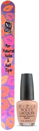 OPI Nail Lacquer MISO HAPPY WITH THIS COLOR NL J06 15 ML05 FL OZ REGULAR SIZE BOTTLE NOT MINI BOTTLE Free Nail File From fetish for Natural Nails And Nail Tips WASHABLE ** You can find more details by visiting the image link.
