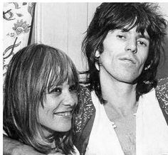 Anita Pallenberg and Keith.