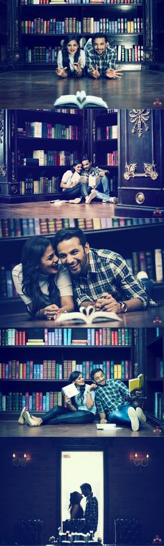 Fearless Love! Chirag&Jinali#prewedding#shoot#library#coupleshoot#love#books#happy couple Photo credits:@wedding rollers