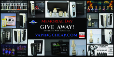 Enter to win one of three prize packages from Vapor World! http://VapingCheap.com/vapor-world-memorial-day-giveaway/