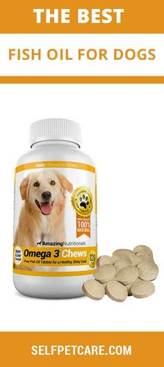 Amazing Nutritionals Fish Oil Chew-able Tablet for Dogs Best Fish Oil, Omega 3 Fish Oil, Oils For Dogs, Baby Puppies, Best Dogs, Dog Food Recipes, Your Pet, Healthy, Amazing
