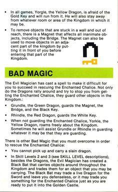 Atari 2600 - Adventure (1979) CX-2613 - Game Program Instructions - Page 6
