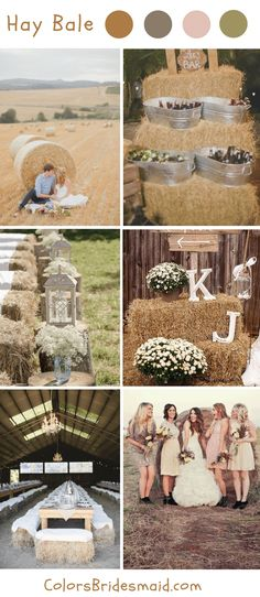 Rustic hay bale fall wedding ideas and colors. wedding colors september / fall color wedding ideas / color schemes wedding summer / wedding in september / wedding fall colors Camo Wedding, Wedding Pins, Rustic Wedding, Dream Wedding, Wedding Favors, Wedding Decorations, Trendy Wedding, Summer Wedding, April Wedding