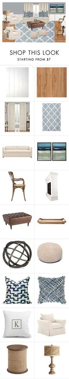 """""""Cottage"""" by scarlet-designs on Polyvore featuring interior, interiors, interior design, home, home decor, interior decorating, Ellery Homestyles, Steel   Lark, Real Flame and Pier 1 Imports"""