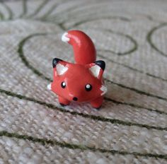 Cute Kawaii Polymer Clay Desk Pet: Fox