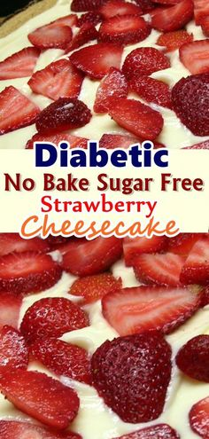 No Bake Sugar Free Strawberry Cheesecake I have a grandmother who is diabetic, and I wanted to create a cheesecake with no added sugar. My whole family loved it, it's now the only one I make Don't forget to Pin this so it will be SAVED to your timeline! Sugar Free Desserts, Sugar Free Recipes, Ww Recipes, Diabetic Recipes, Cooking Recipes, Sugar Free Foods, Sugar Free Cakes, Diabetic Sweets, Sugar Free Baking