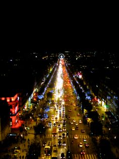 Parigi, vue de l'arc de Triomphe