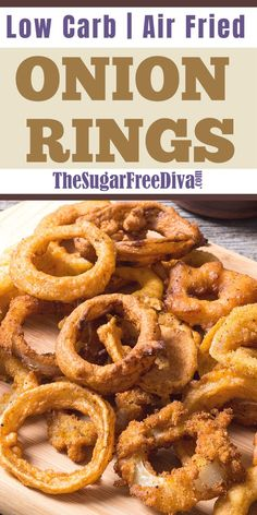 These are the best LOW CARB AIR FRIED ONION RINGS. This recipe for Low Carb Air Fried Onion Rings makes for a great appetizer. These onion rings will be made in an air fryer as well. Air Fryer Dinner Recipes, Air Fryer Oven Recipes, Great Appetizers, Appetizer Recipes, Dessert Recipes, Lunch Recipes, Low Carb Appetizers, Savoury Recipes, Recipes Dinner
