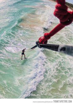 Kitesurfing like a boss…