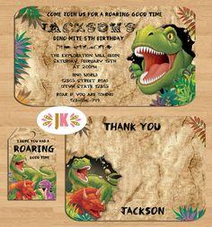Dinosaur Birthday invitations  Come Celebrate with by JuKaDesignz