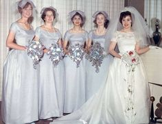 1950s Bride and Bridesmaids in Kodachrome