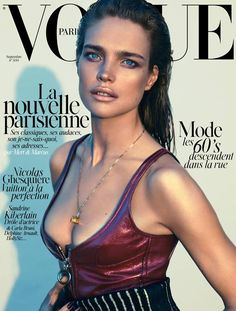 Natalia Vodianova Wears Louis Vuitton on Vogue Paris September 2014 Cover
