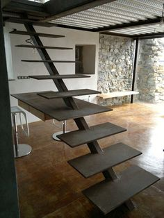 View full picture gallery of Casa Sabugo Floating Staircase, Interior Stairs, Staircase Design, My New Room, Stairways, Decoration, Tiny House, Designer, Home And Family
