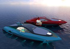 Studio Pannone Architetti has submitted their latest project: Italian Charme 45 tender yacht. This concept yacht wants to set a new era where a sporty boat can Yacht Design, Boat Design, Jet Ski, Fast Boats, Speed Boats, Small Yachts, Float Your Boat, Yacht Interior, Yacht Boat