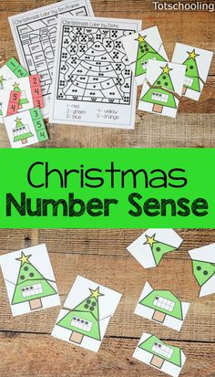 FREE Christmas activities for preschool and kindergarten kids to learn numbers, counting, ten frames and develop number sense. Includes coloring pages, puzzles and clip cards. Great activities for a preschool math center for Christmas!