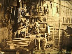 Philip Clissett, chairmaker, in his workshop c.1900