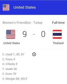 Not only did HAO score in her last game but the final score was 9-0 very fitting and awesome! #thanksHAO miss you already