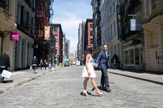 Urban Spring Engagement Session in New York City | Images by Captured Photography by Jenny | Via Modernly Wed | 07