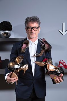 Jean-Michel Cazabat is a French-born shoe designer based in New York City. He is best-known for his use of vibrant colours and exotic skins in his designs.