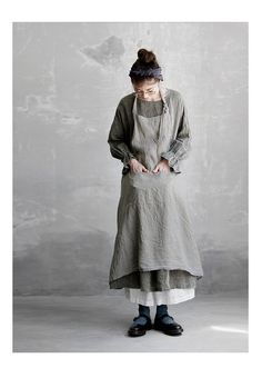 【送料無料】Joie de Vivreフレンチリネン先染めシャンブレーワッシャー アンティークワンピース Mori Girl Fashion, Funky Fashion, Womens Fashion, Fashion Story, Fashion Outfits, Linen Dresses, Mode Style, Japanese Fashion, Simple Outfits