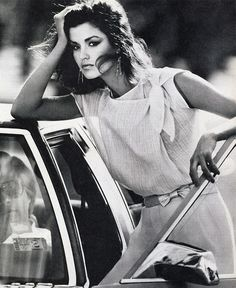 Janice Dickinson for US Vogue, March 1980 by Mike Reinhardt