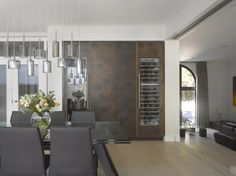 Patinated Bronze and Walnut veneer bespoke drinks cabinet from Roundhouse