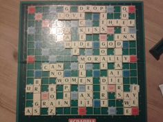 JW. Family worship ideas....family Bible Scrabble.....great fun!!