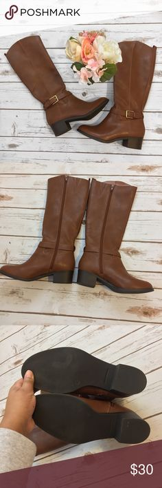 NWOT/ Old Navy | Brown Calf High Boots Size 8 ⚪️All items are inspected for imperfections and damage ⚪️Any flaws will be photographed and documented in item description, please read before purchasing!  🌺🌱HAPPY POSHING!🌱🌺  Super cute boots! Brand new without tags. They fit true to size. Old Navy Shoes Winter & Rain Boots