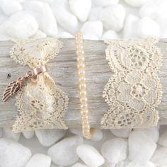 Prachtige armbanden gemaakt met Elastisch lint Ibiza & kant