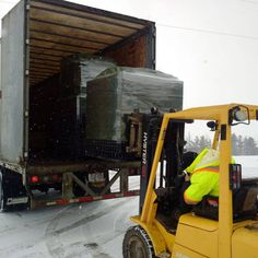 Our skids are packed and will arrive in Edmonton for a CGTA gift show! Truck, Packing, Snow, Winter, Handmade, Gifts, Bag Packaging, Winter Time, Hand Made
