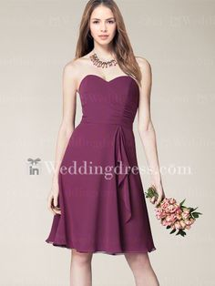 Sweetheart Cocktail Length Bridesmaid Dress   http://www.inweddingdress.com/bridesmaid-dresses-br332.html