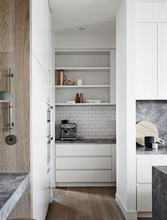 Like this look, nice drawers, not sure about open shelving though? Maybe a little?