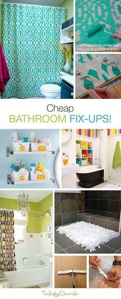 Cheap Bathroom Fix Ups for Any Family! • Tips, Ideas & Tutorials!