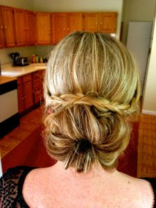 NEW POST on The Mane Attraction - Cross-over Braid with a Messy Bun