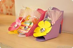 Paper high heel shoes. These make me think of my sister-in-laws. :)
