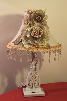 Shabby Chic/ Cottage style Lamp & Decorative by raesdesignerlamps, $250.00