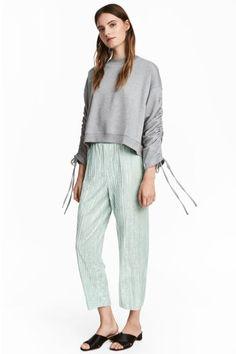 Pantalón de terciopelo - Verde menta - | H&M ES 1