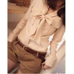 Fashion and Comfortable Style Chiffon Long sleeves V-Neck Shirt For Women/Girl
