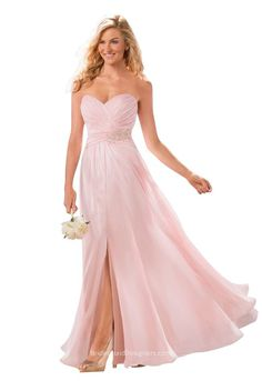 039821b09313 Designer Pink Strapless Pleated Sexy Slit A-Line Long Bridesmaid Dress  Sweetheart Neck is for Sale! Buy Pink Strapless Pleated Sexy Slit A-Line  Long ...