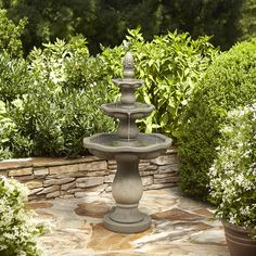 Shop Garden Treasures 57.5-in Resin Tiered Fountain at Lowes.com